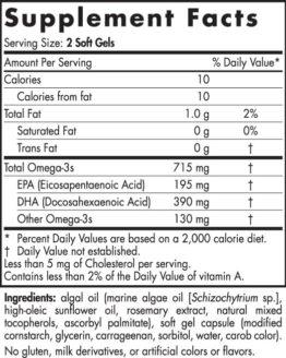 Algae Omega Lable