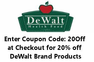 DeWalt's Health Food Coupon